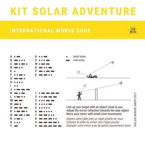 Plan matériel de survie solaire