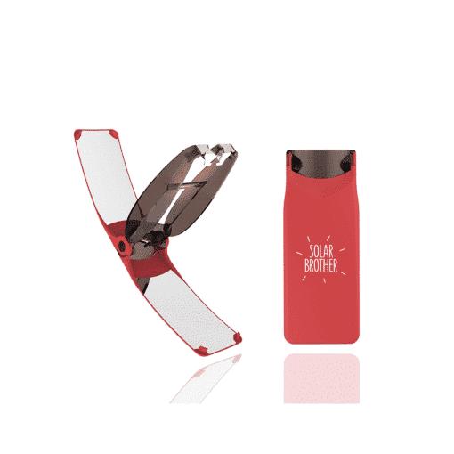 briquet solaire suncase gear rouge