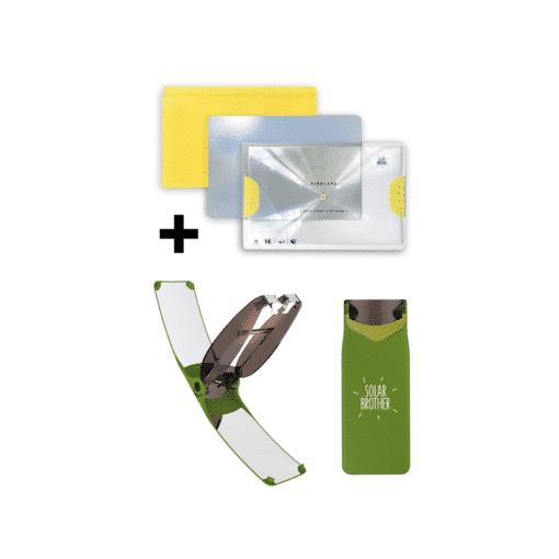 Briquet solaire vert + kit adventure