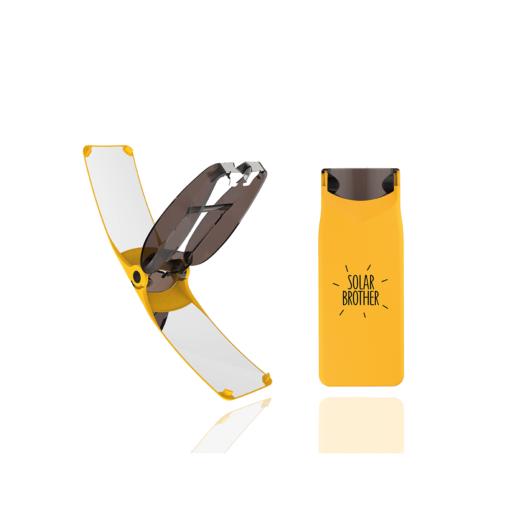 briquet solaire suncase gear jaune