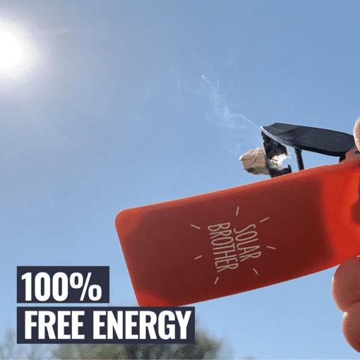 Briquet solaire 100% FREE ENERGY