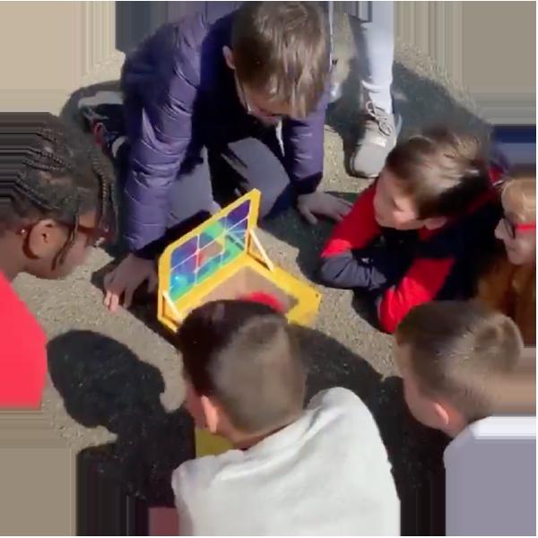 sunlab avec des enfants