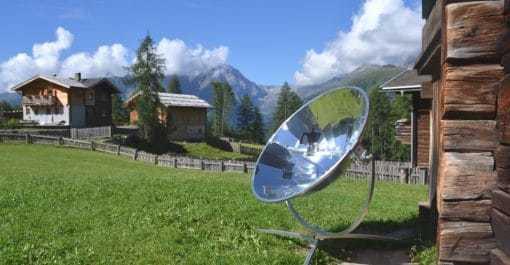 parabole solaire montagne