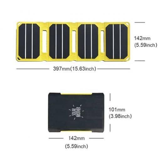 mesure chargeur solaire