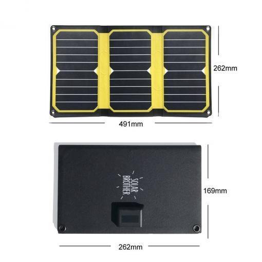 chargeur solaire déplie